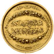 Türkei. Abdul Mejid 1839-1861. Goldene Prämienmedaille AH 1255, Jahr 5=1844. Stempel von Mihrabcioglu Krikor Efendi. Vorzüglich.