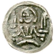 Brandenburg/Preußen. Otto IV 1266-1308. Obol um 1280, Spandau. Äußerst selten. Sehr schön/vorzüglich.
