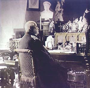 Wilhelm I on his desk. Source: Wikipedia.