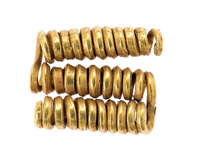 Spiralröllchen (Haarschmuck). Ovcari, Mitte 2. Jt. v. Chr. Radnevo, Archäologisches Museum