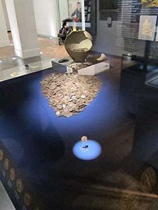 Römischer Schatzfund, 2003 gefunden. Foto: UK.