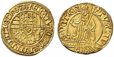 Lorraine. René II, 1473-1508. Florin d'or n. y., Nancy. From Grün sale (2017), No. 1820. Estimate: 7,500 Euro