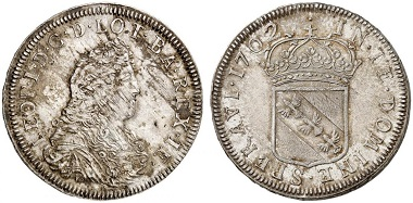 Lorraine. Leopold, 1690-1729. Écu 1702. From Grün sale 71 (2017), No. 1892. Estimate: 5,000 Euro
