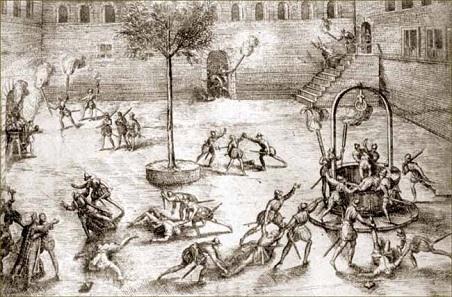 Die Michelade 1567 in Nîmes. Quelle: Wikipedia, dort ohne nähere Angaben.