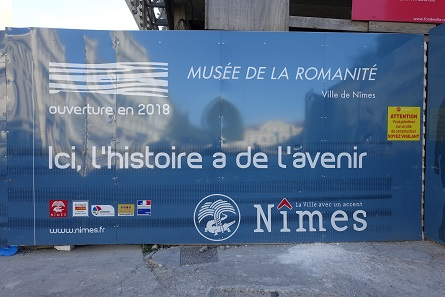 The new archaeological museum, a good reason to visit Nîmes again in 2018. Photo: KW.