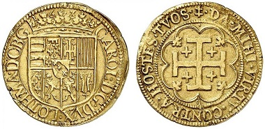 Nr. 1880. Lothringen. Charles IV., 1625-1634. Double Pistole 1631. Äußerst selten. Sehr schön. Taxe: 10.000 Euro