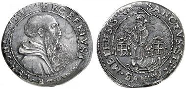 Lot 2021. Metz, bishopric. Robert de Lénoncourt, 1551-1555. Écu 1551. Very rare. Extremely fine. Estimate: 6,000 euros