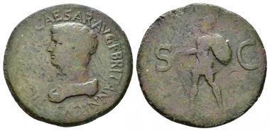 Lot 407: Britannicus, son of Claudius. Sestertius, circa 50-54, Thracian mint. Good fine / Fine. Starting Bid: 1,600 GBP.