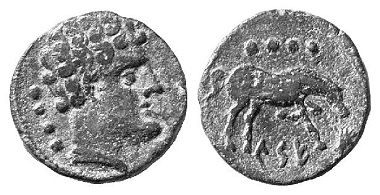Kese. Triens, 120-20 BC. From Künker auction sale 97 (2005), No. 76.