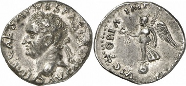 Vespasian, 69-79. Denarius, 69-70, Tarraco. From Gorny & Mosch auction sale 186 (2010), 1951.