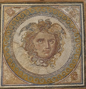 A delicate mosaic with a representation of Medusa. Photo: KW.