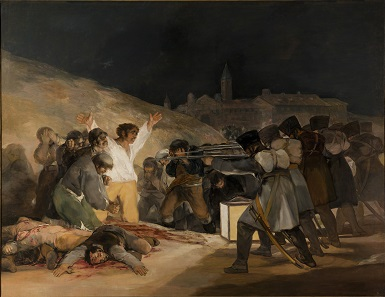 Execution of the resisters on May 3, 1808, in Madrid, by Francisco Goya. Museo del Prado, Madrid.