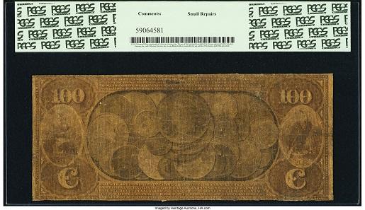 Petaluma, CA. $100 Original national Gold Bank Note Fr. 1165 The First National Gold Bank Ch.