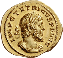 Lot 33: Roman Empire. Tetricus I, 271-274. Aureus, 272, Cologne or Treveri. Good extremely fine. Estimate: 50,000 CHF.