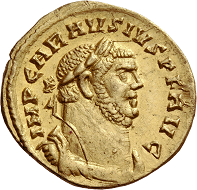 Lot 44: Roman Empire. Carausius, 286-293. Aureus, October 286-March 287, Londinium. Good extremely fine / Extremely fine. Estimate: 200,000 CHF.