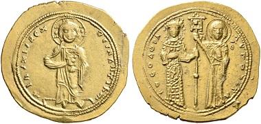 317. Theodora, 1055-1056. Histamenon. Vorzüglich. Taxe: 3.000 Euro. Startpreis: 1.800 Euro