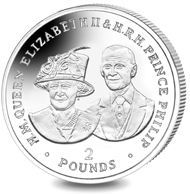 British Indian Ocean Territory. 70 Years of HM Queen Elizabeth II & HRH Prince Philip - The Queen's 80th Birthday / Sterling Silver / 28.28 g / 38.60 mm / Mintage: 2000.