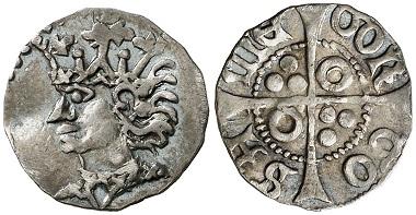 Königreich von Valencia. Juan II., 1458-1479. Terc de croat, Tortosa. Aus Auktion Aureo & Calicó 259 (2014), Nr. 585.