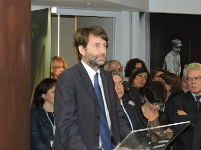 The Minister of Cultural Heritage and Activities and Tourism, Dario Franceschini, held a speech at the official inauguration. Photo: Roberto Ganganelli.