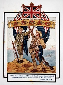 Popular illustration of Anzac troops after the fighting at Gallipoli.