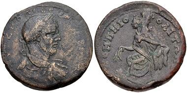 Lot 426: Cilicia, Pompeiopolis. Marcinus, AD 217-218. Near VF. Estimate: 150 USD.