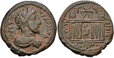 Lot 442: Decapolis, Capitolias. Commodus, AD 177-192. VF. Estimate: 500 USD.