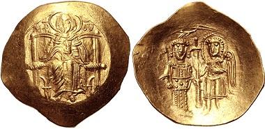 Lot 640: Isaac II Angelus. First reign, 1185-1195. AV Hyperpyron. Good VF. Estimate: 300 USD.