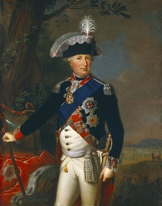 One of Meyer Amschel Rothschild's customers was William, hereditary prince of Hesse-Kassel. Painting by Carl Gustaf Pilo.