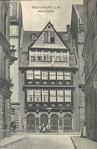Das Haus zum grünen Schild, Stammhaus der Rothschilds seit 1784 oder 1786.