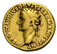 Lot 625: Roman Coins. Empire. Claudius, 41-54. Aureus, 41-45 for Drusus, on his victories in Germania. Very fine. Estimate: 1,000 EUR.