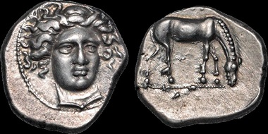 Lot 14: Thessaly. Larissa. Drachm. Good Very Fine. Ex BCD. Estimate: 1,000 USD.