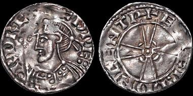 Lot 61: Edward the Confessor. AR penny. Expanding cross type. Canterbury. Good Very Fine. Estimate: 500 USD.