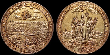 Lot 175: Sweden. The Battle of Breitenfeld. Gilded silver medal. Extremely fine. Estimate: 900 USD.