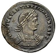 Constantius II. Caesar, 317-337. Miliarense, Sirmium. Aus Auktion Münzen & Medaillen 45 (9. Juni 2017), Nr. 119.