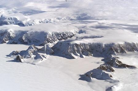 Larsen Ice Shelf in Antarctica.