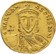 Lot 318: Byzantine Empire. Artavasdus, 742-743. Solidus, 742/743, Mint of Constantinopolis. Extremely rare. Extremely fine. Estimate: 30,000 CHF. Result: 40,000 CHF.
