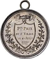 Los 5692: Schweiz. Neuenberg/Neuchatel. Silbermedaille 1820. Unikat. Sehr schön-vorzüglich. Schätzpreis: 2.500 CHF. Zuschlag: 6.000 CHF.