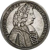 Lot 29: Münster. Friedrich Christian von Plettenberg, 1688-1706. Reichstaler 1698, Münster. Very rare. Very fine. Estimate: 6,000 euros.