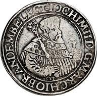 Lot 307: Brandenburg-Prussia. Joachim II, 1535-1571. Reichsguldiner 1551, Berlin. From the Henckel Collection, A. Weyl sale, Berlin 1876, No. 367. Extremely rare. Very fine. Estimate: 25,000 euros.