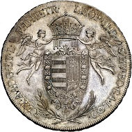 Lot 1650: Leopold II, 1790-1792. 'Königstaler' for Hungary 1790, Vienna. Extremely rare in this grade. First strike. FDC. Estimate: 10,000 euros.
