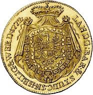 Lot 3477: Fürstenberg. Karl Egon, 1729-1787. Ducat 1772, Prague. Extremely rare. Almost FDC. Estimate: 20,000 euros.