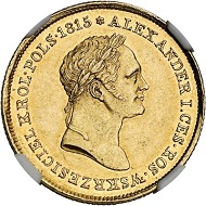 Lot 5178: Russia. Nicholas I, 1825-1855. 50 zlotychs 1827, Warsaw, for Poland. Graded NGC MS 61. Only 299 specimens struck. Good extremely fine. Estimate: 50,000 euros.