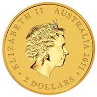 Australia - 2 AUD - 0,016oz 999 gold - 0.5 g - 11.6 mm - Mintage: Unlimited - Designer: Wade Robinson.