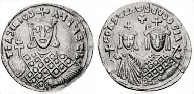 Fig. 3: Forgery of a solidus of Basil I offered in a US auction sale.