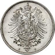 Lot 259: 1 mark 1873 C. FDC. Estimate: 6,500 euros. Hammer price: 9,500 euros.