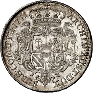 Maria Theresa. Reichstaler 1741, Vienna. Extremely fine. Estimate: 500 euros. From Künker sale 293 (27/28 June 2017), No 1620.