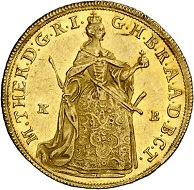 Maria Theresa. Ducat 1765, Kremnica. Almost extremely fine. Estimate: 400 euros. From Künker sale 294 (28/29 June 2017), No 3428.
