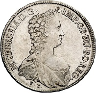 Maria Theresa. Half-convention taler 1765, Günzburg. Almost extremely fine. Estimate: 300 euros. From Küker sale 293 (27/28 June 2017), No 1613.