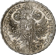 Maria Theresa. Convention taler 1767, Vienna. Adjustment marks. Extremely fine. Estimate: 300 euros. From Künker sale 293 (27/28 June 2017), No 1633.