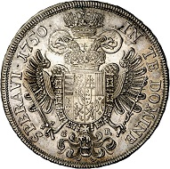Francis I. 1/2 Reichstaler 1750, Graz. Very fine to extremely fine. Estimate: 150 euros. From Künker sale 293 (27/28 June 2017), No 1634.